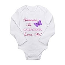 California State (Butterfly) Long Sleeve Infant Bo