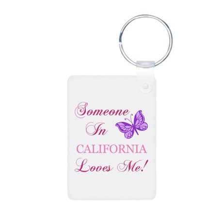 California State (Butterfly) Aluminum Photo Keycha