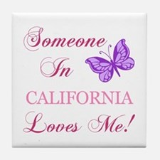 California State (Butterfly) Tile Coaster
