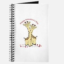 Valentine Giraffes Journal