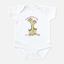 Valentine Giraffes Infant Bodysuit