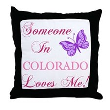 Colorado State (Butterfly) Throw Pillow