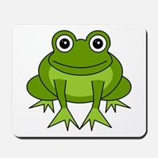 Cute Happy Green Frog Cartoon Mousepad