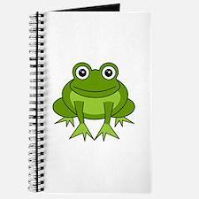 Cute Happy Green Frog Cartoon Journal
