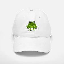 Cute Happy Green Frog Cartoon Baseball Baseball Cap