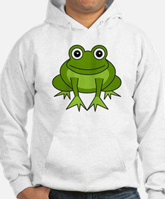 Cute Happy Green Frog Cartoon Hoodie