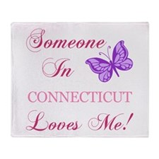 Connecticut State (Butterfly) Throw Blanket