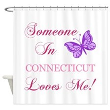 Connecticut State (Butterfly) Shower Curtain