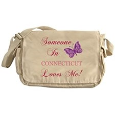 Connecticut State (Butterfly) Messenger Bag