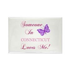 Connecticut State (Butterfly) Rectangle Magnet (10