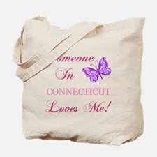 Connecticut State (Butterfly) Tote Bag