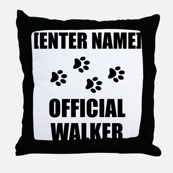 Official Pet Walker Personalize It!: Throw Pillow