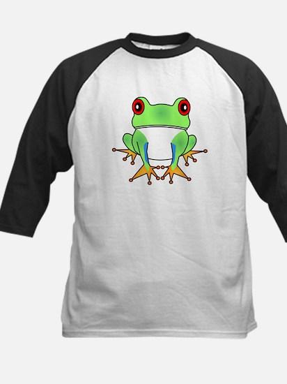 Cute Tree Frog Cartoon Kids Baseball Jersey