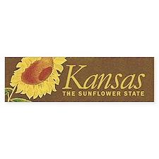Kansas the sunflower state Car Sticker