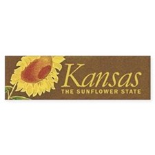 Kansas the sunflower state Bumper Sticker