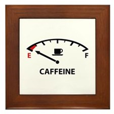Running On Empty : Caffeine Framed Tile