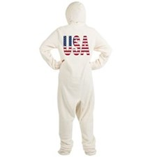 USA flag Footed Pajamas