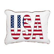 USA flag Rectangular Canvas Pillow