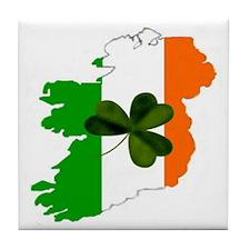 Map of United Ireland Tile Coaster