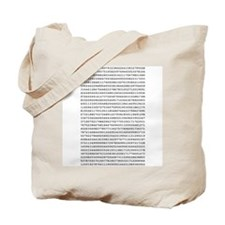 Pi to 1,000 Places Tote Bag