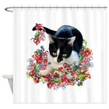 Cat Ribbons Shower Curtain