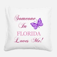 Florida State (Butterfly) Square Canvas Pillow