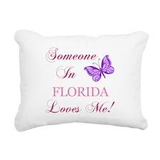 Florida State (Butterfly) Rectangular Canvas Pillo