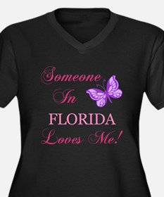 Florida State (Butterfly) Women's Plus Size V-Neck