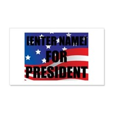 For President Personalize It! Wall Decal