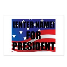 For President Personalize It! Postcards (Package o