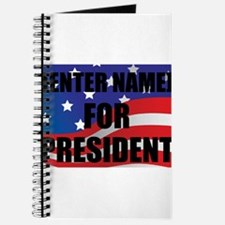 For President Personalize It! Journal