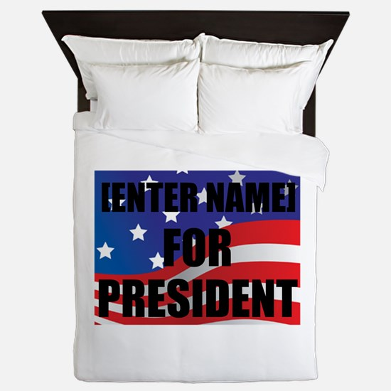 For President Personalize It! Queen Duvet