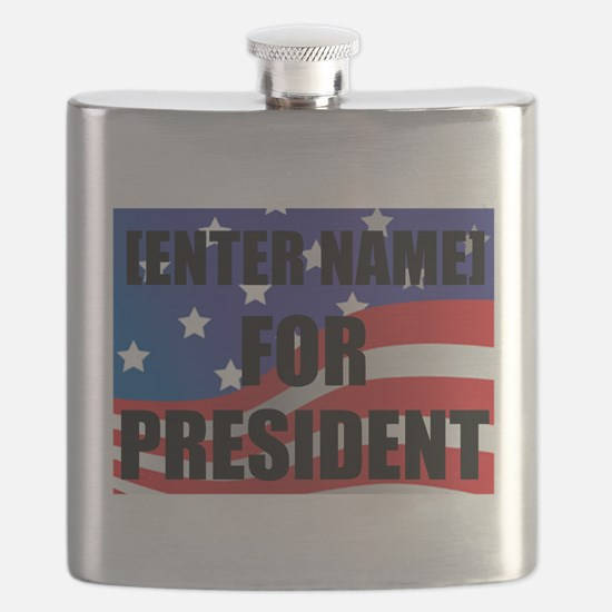 For President Personalize It! Flask