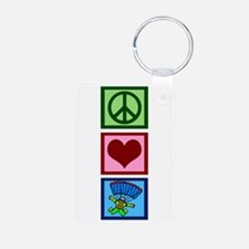Peace Love Skydiving Keychains