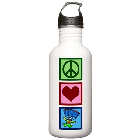 Peace Love Skydiving Stainless Water Bottle 1.0L