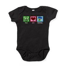 Peace Love Skydiving Baby Bodysuit
