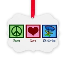 Peace Love Skydiving Ornament