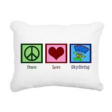 Peace Love Skydiving Rectangular Canvas Pillow