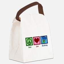 Peace Love Skydiving Canvas Lunch Bag