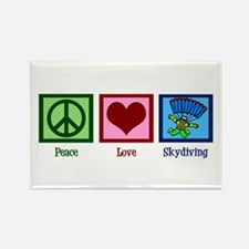 Peace Love Skydiving Rectangle Magnet