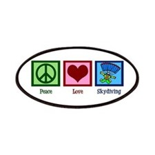 Peace Love Skydiving Patches