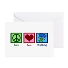 Peace Love Skydiving Greeting Cards (Pk of 10)