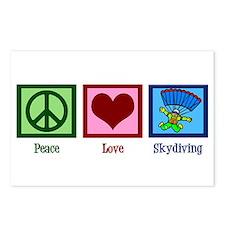 Peace Love Skydiving Postcards (Package of 8)