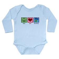 Peace Love Skydiving Long Sleeve Infant Bodysuit
