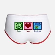 Peace Love Skydiving Women's Boy Brief