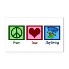 Peace Love Skydiving Rectangle Car Magnet