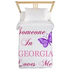 Georgia State (Butterfly) Twin Duvet