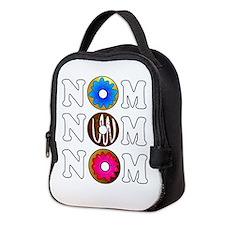Nom Nom Nom Yummy Doughnuts Neoprene Lunch Bag