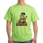 Feministe Apple Green T-Shirt