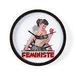 Feministe Wall Clock